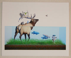 2011 Evacuation I - Giclee Art Print by Josh Keyes