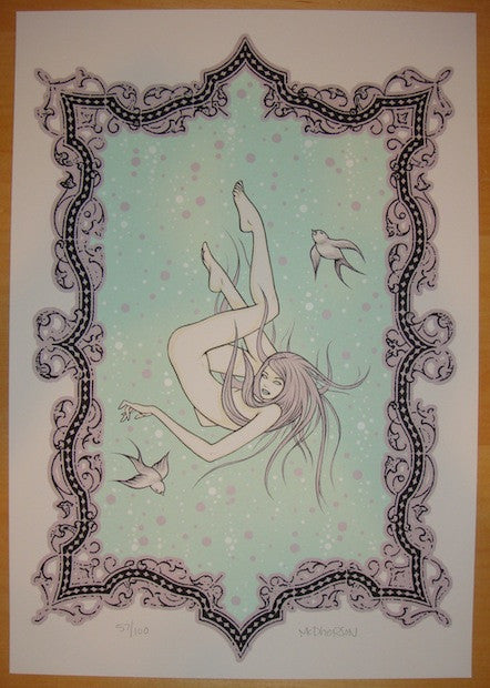 2009 Floating In Circles - Art Print by Tara McPherson