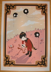 2009 George Picking Skull Flowers - Art Print by Tara McPherson