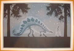 2006 Ghost Buddies: Stegosaurus - Silkscreen Art Print by Dan McCarthy
