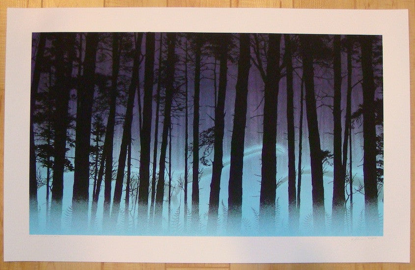 2012 Ghost Pines - Silkscreen Art Print by Dan McCarthy