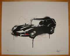 2009 Hearse - Silkscreen Art Print by 2cents
