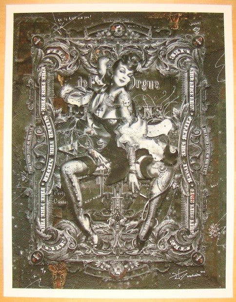2012 Hecate No. 2 - Silkscreen Art Print by Handiedan