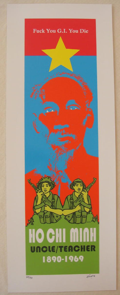 "2007 Ho Chi Minh ""Uncle/Teacher"" - Art Print by Frank Kozik"