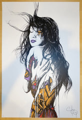 2013 Intrinsic II - White Hand Finished Art Print by PEZ (Pierre Yves Riveau)
