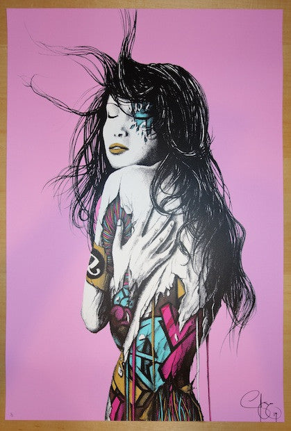 2013 Intrinsic II - Pink Hand Finished Art Print by PEZ (Pierre Yves Riveau)