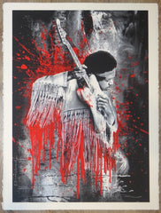 2015 Jimi - Red Silkscreen Art Print by Mr. Brainwash