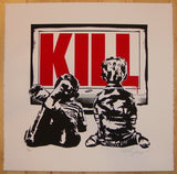 2011 Kill - Silkscreen Art Print by Rene Gagnon