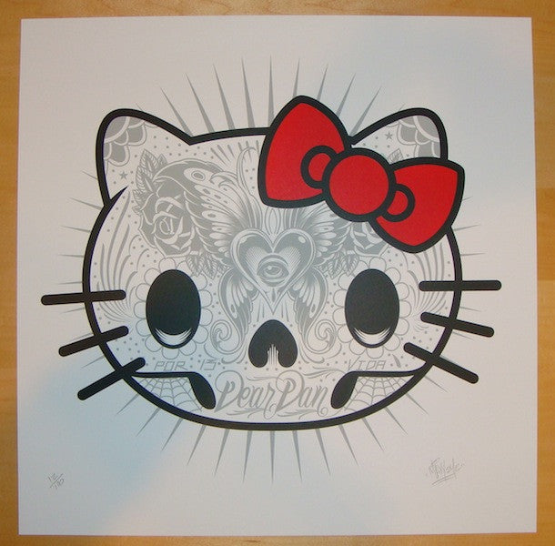 2012 Kitty Muerto - Silkscreen Art Print by Maxx242