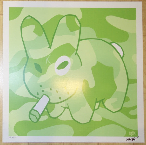 "2005 Labbit ""Green"" - Silkscreen Art Print by Frank Kozik"
