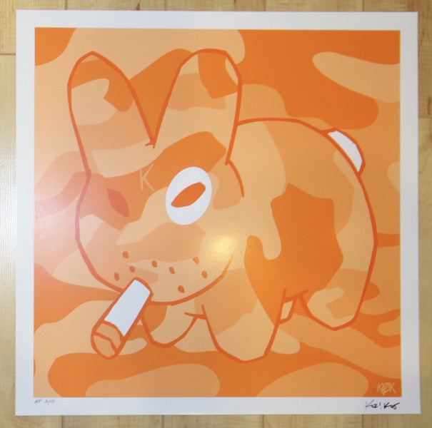 "2005 Labbit ""Orange"" - Silkscreen Art Print by Frank Kozik"