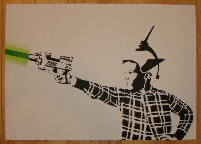 2011 Lazerboy - Stencil Art Print by Fake