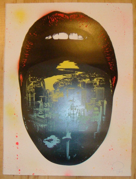 2011 Lick London - One Off Silkscreen Art Print by Prefab