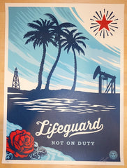 2014 Lifeguard Not On Duty - Silkscreen Art Print by Shepard Fairey
