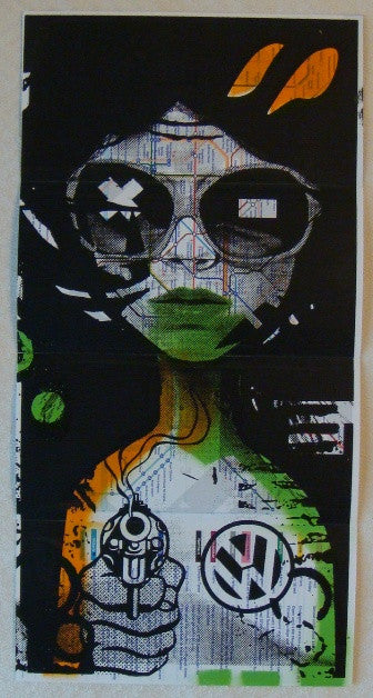 2010 Lost Her On The Tube - Silkscreen Art Print by Miss Bugs