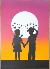 2009 Love Hurts - Stencil Art Print by Fake