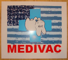2004 Medivac - Blue Silkscreen Art Print by Frank Kozik