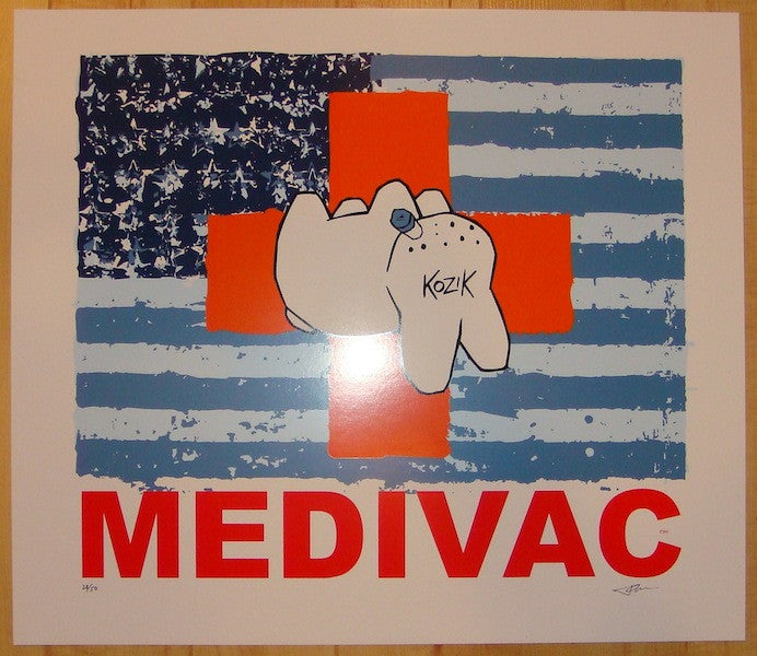 2004 Medivac - Orange Silkscreen Art Print by Frank Kozik