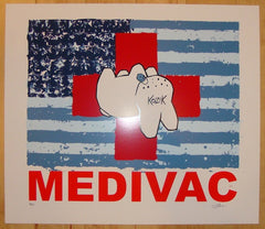 2004 Medivac - Red Silkscreen Art Print by Frank Kozik