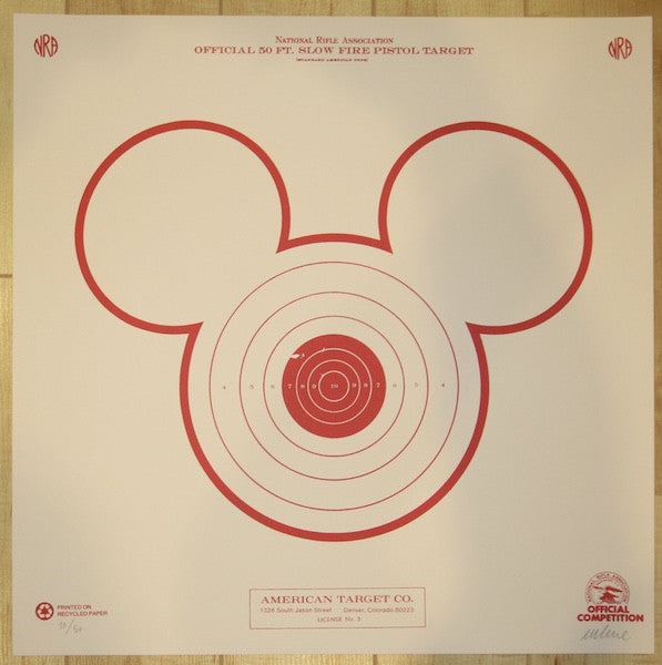 2014 Mickey Target - Silkscreen Art Print by Imbue