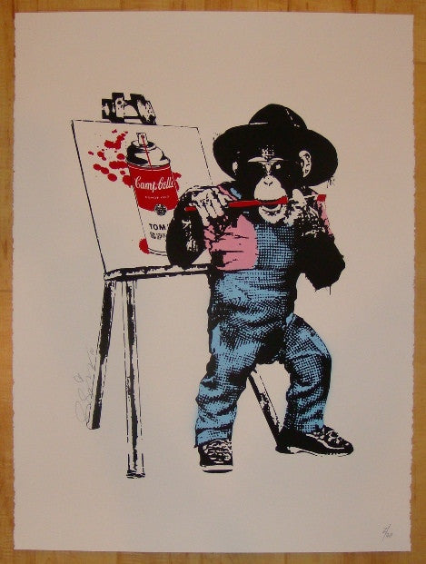 2010 Monkey See, Monkey Do - Silkscreen Art Print by Rene Gagnon