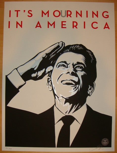 2011 It's Mourning In America - Art Print by Shepard Fairey