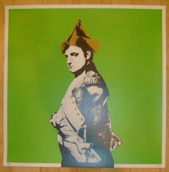 2013 Napoleon - Lime Silkscreen Art Print by Dot Dot Dot