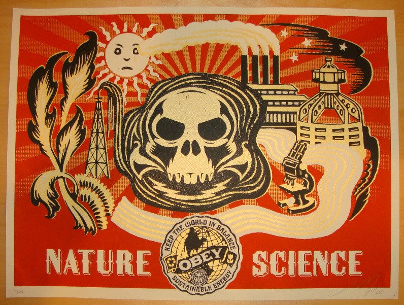 2006 Nature Science Gold Silkscreen Art Print by Shepard Fairey