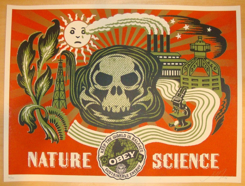 2006 Nature Science Green Silkscreen Art Print by Shepard Fairey