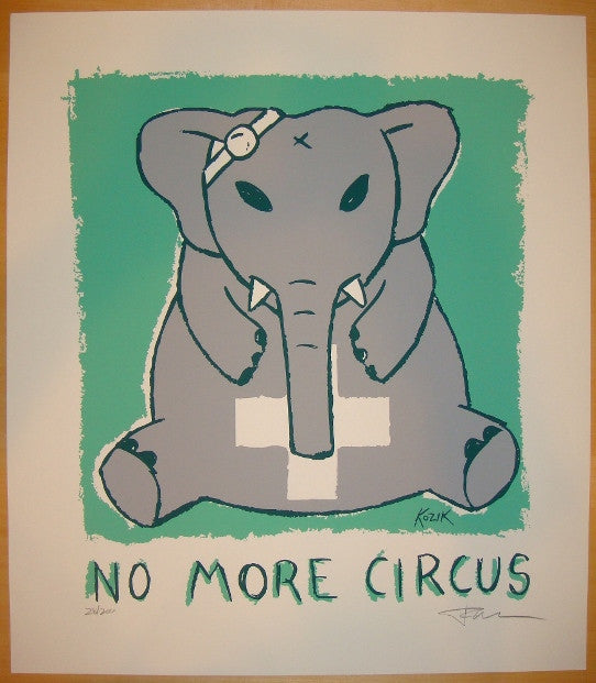 2004 No More Circus - Silkscreen Art Print by Frank Kozik