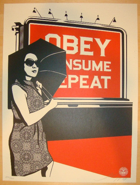 2008 Obey Billboard - Consume Art Print by Shepard Fairey