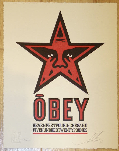 2013 Obey Star - Letterpress Fine Art Print by Shepard Fairey