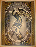 2007 Operation Oil Freedom - Gold Art Print by Shepard Fairey