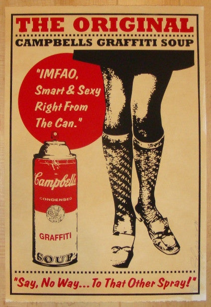 2010 Original Campbells Soup - Sexy Legs Print by Rene Gagnon