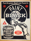 2014 Paint It Black Brush - Art Print by Shepard Fairey