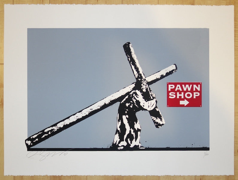 2010 Pawn Shop Jesus - Silkscreen Art Print by Rene Gagnon