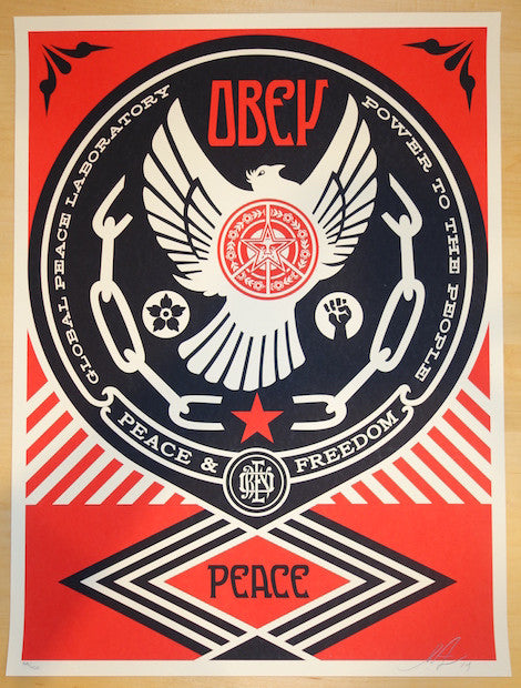 2014 Peace & Freedom Dove - Silkscreen Art Print by Shepard Fairey