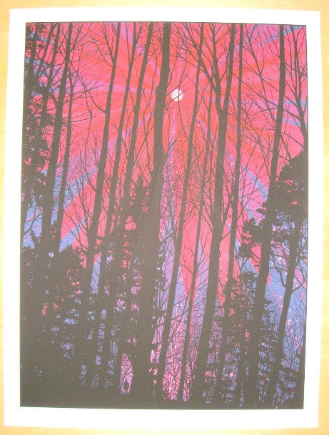 2010 Pink Moon - Silkscreen Art Print by Dan McCarthy