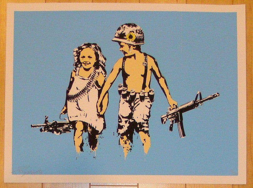 2013 Play Date - Light Blue Silkscreen Art Print by Rene Gagnon