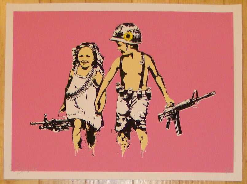 2013 Play Date - Pink Silkscreen Art Print by Rene Gagnon