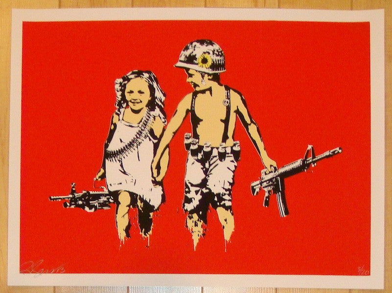 2013 Play Date - Red/Orange Silkscreen Art Print by Rene Gagnon