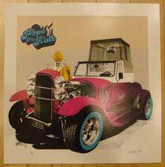 2010 Pope My Ride - Pink Silkscreen Art Print by Static