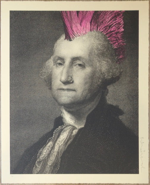 2018 President's Day - Punk Silkscreen Art Print by Mr. Brainwash