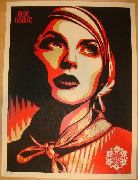 2011 Rise Above Rebel - Silkscreen Art Print by Shepard Fairey