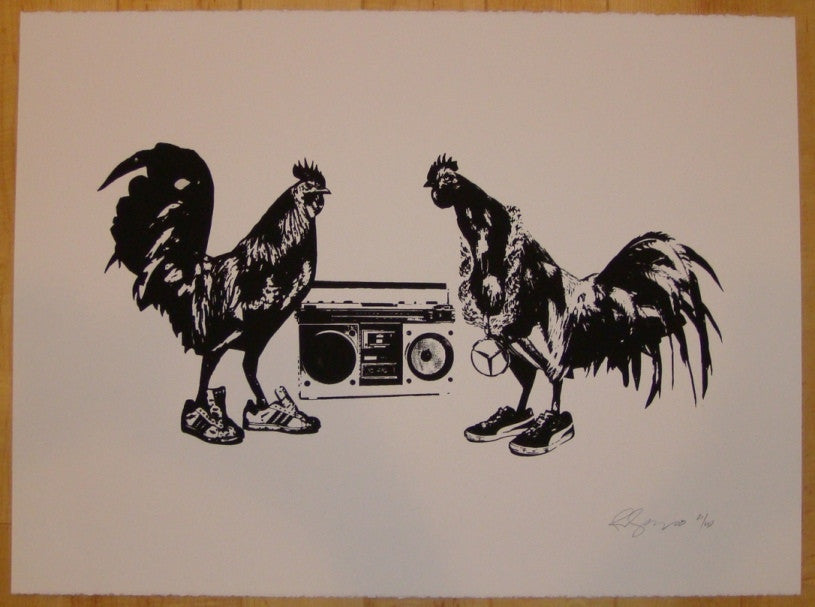 2008 Rooster Collective - Silkscreen Art Print by Rene Gagnon