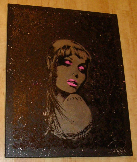 2008 Skin Girl - Original Artwork on Canvas by Prefab