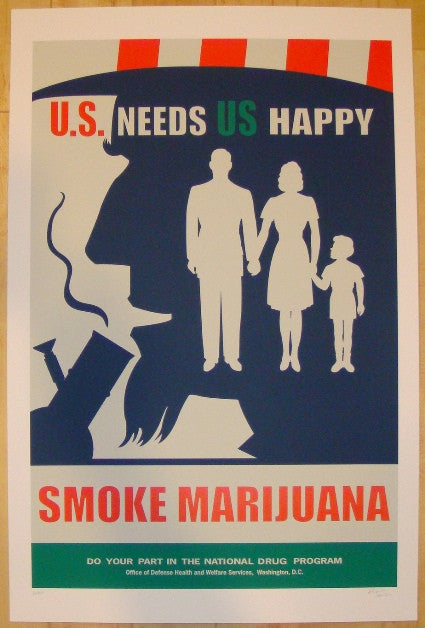 2012 Smoke Marijuana - Silkscreen Art Print by Frank Kozik