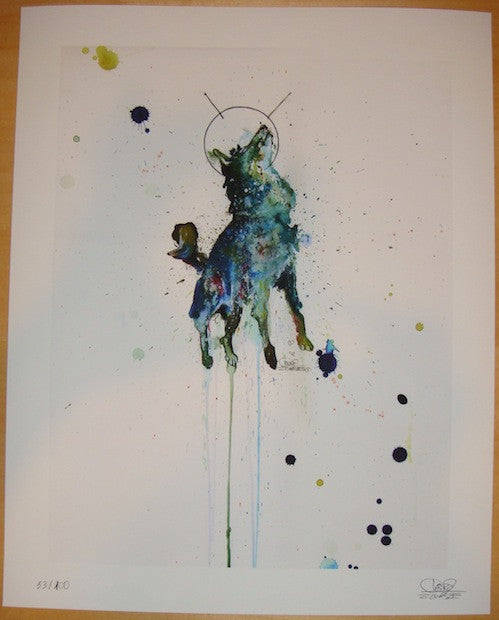 2011 Space Dog - Giclee Art Print by Lora Zombie