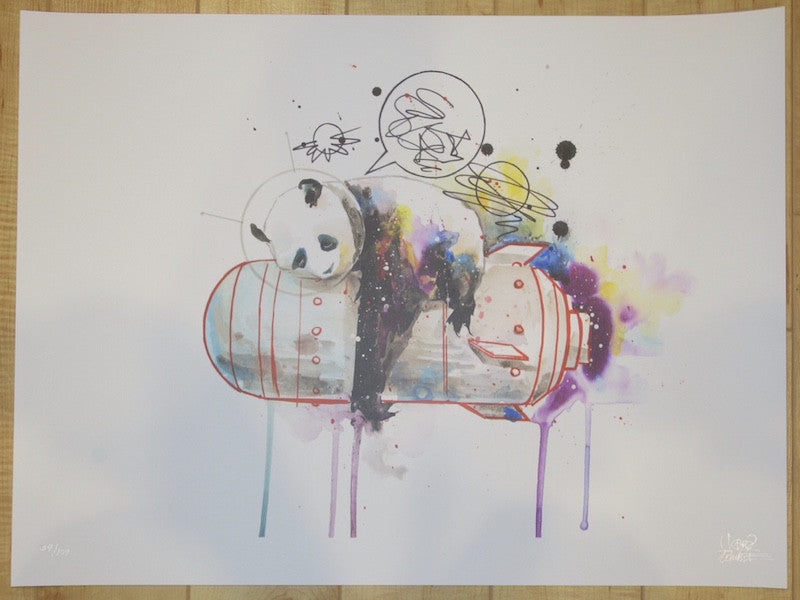 2014 Space Panda I - Giclee Art Print by Lora Zombie