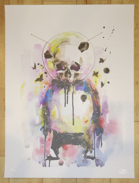 2014 Space Panda II - Giclee Art Print by Lora Zombie